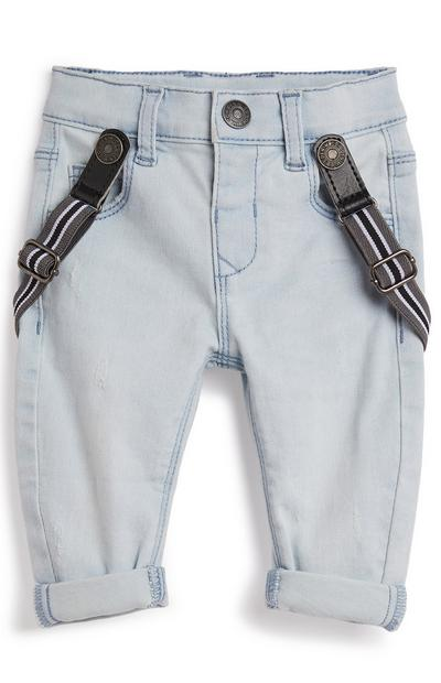 Baby Boy Denim Style Jeans With Braces