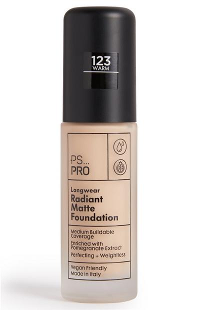 PS Pro Longwear Radiant Matte Foundation 123 Warm