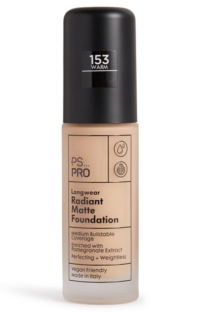 PS Pro Longwear Radiant Matte Foundation 153 Warm