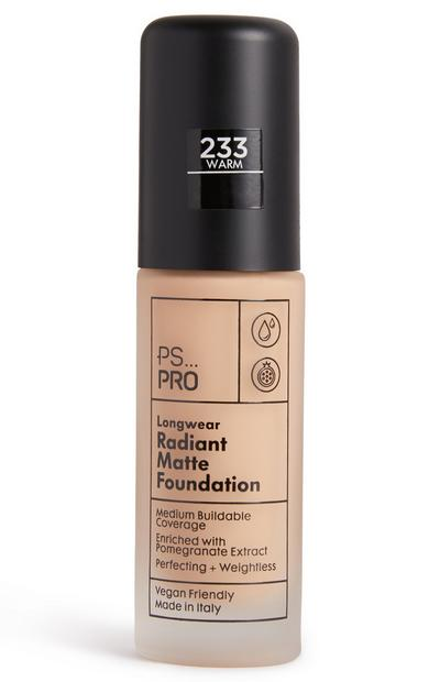 PS Pro Longwear Radiant Matte Foundation 233 Warm