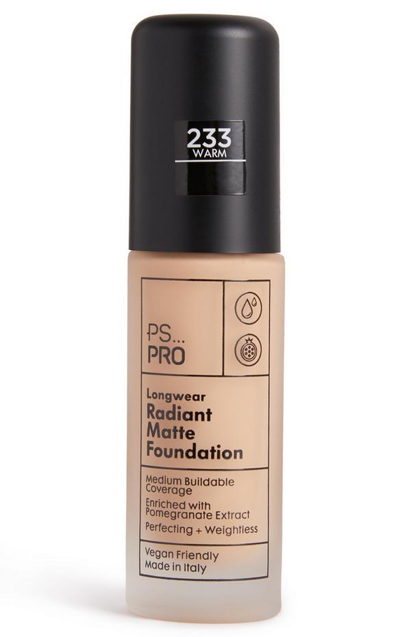 PS Pro Longwear Radiant Matte Foundation 233 Warm