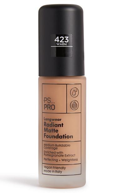 PS Pro Longwear Radiant Matte Foundation 423 Warm