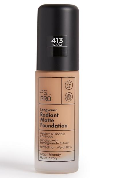 PS Pro Longwear Radiant Matte Foundation 413 Warm