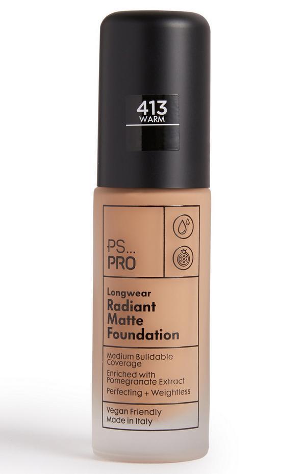 PS Pro Longwear Radiant Matte Foundation 413 Warm