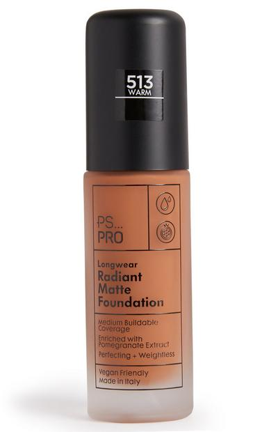 PS Pro Longwear Radiant Matte Foundation 513 Warm