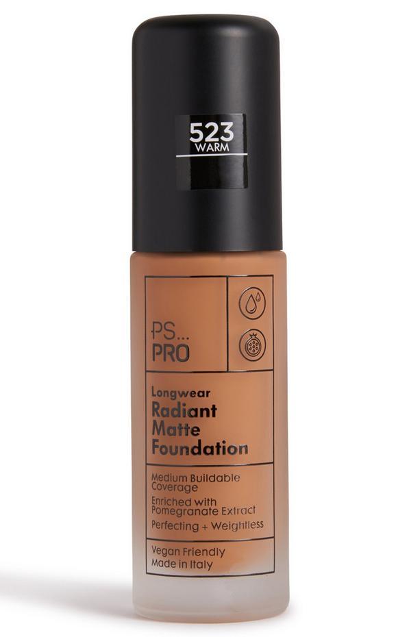 PS Pro Longwear Radiant Matte Foundation 523 Warm