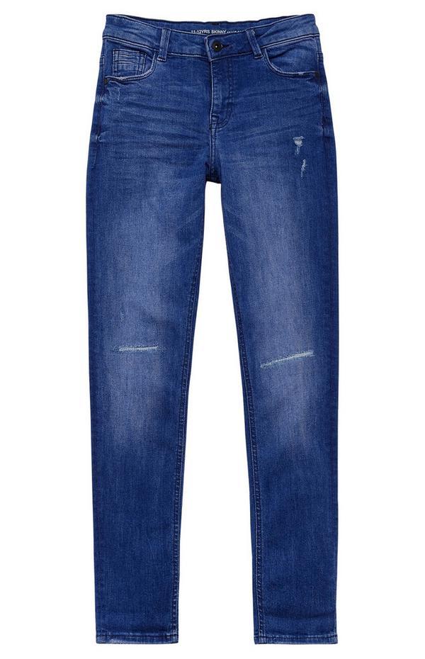 Jeans in denim lavaggio blu da ragazzo