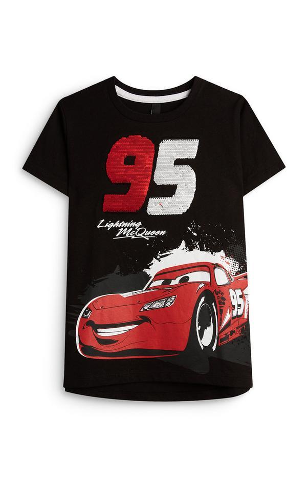 T-shirt met pailletten Lightning McQueen voor jongens