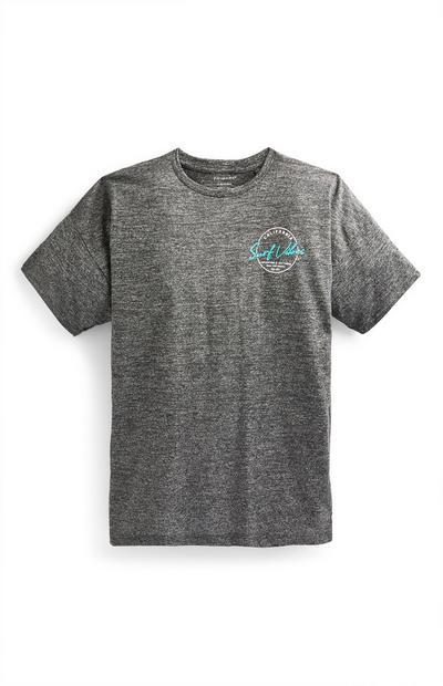 Donkergrijs T-shirt met print California voor jongens