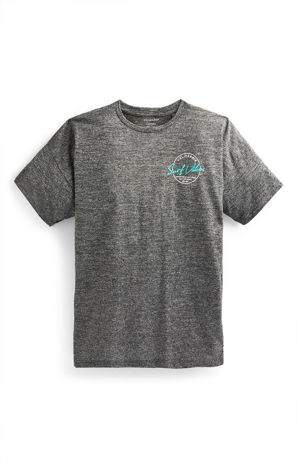 Older Boy Charcoal California Print T-Shirt