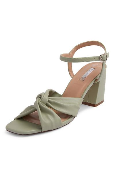 Grey Ruched Vamp Sandals