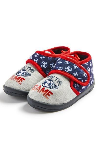 Pantoffels met voetbalprint voor jongens