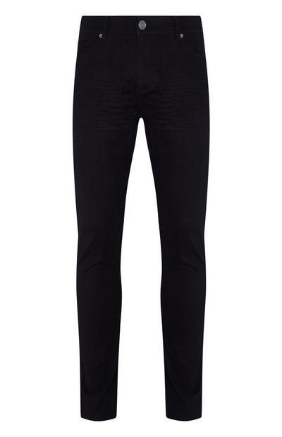 Schwarze Skinny Jeans aus Twill
