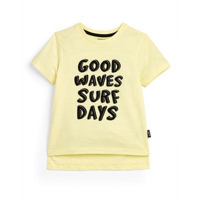 Younger Boy Yellow Surf Print T-Shirt