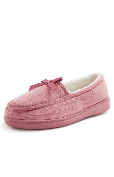 Pink Memory Foam Slippers