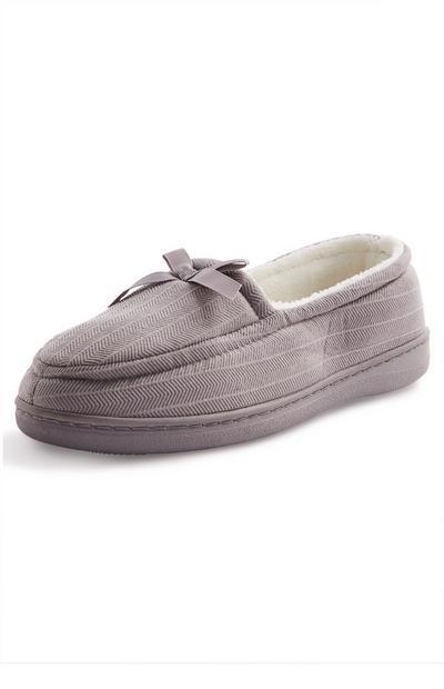 Grey Memory Foam Slippers