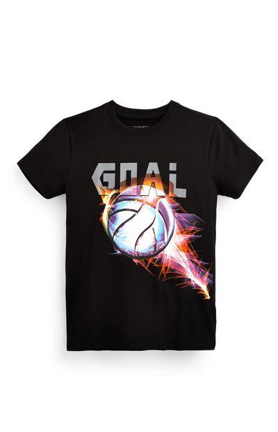 Zwart T-shirt Goal voor jongens