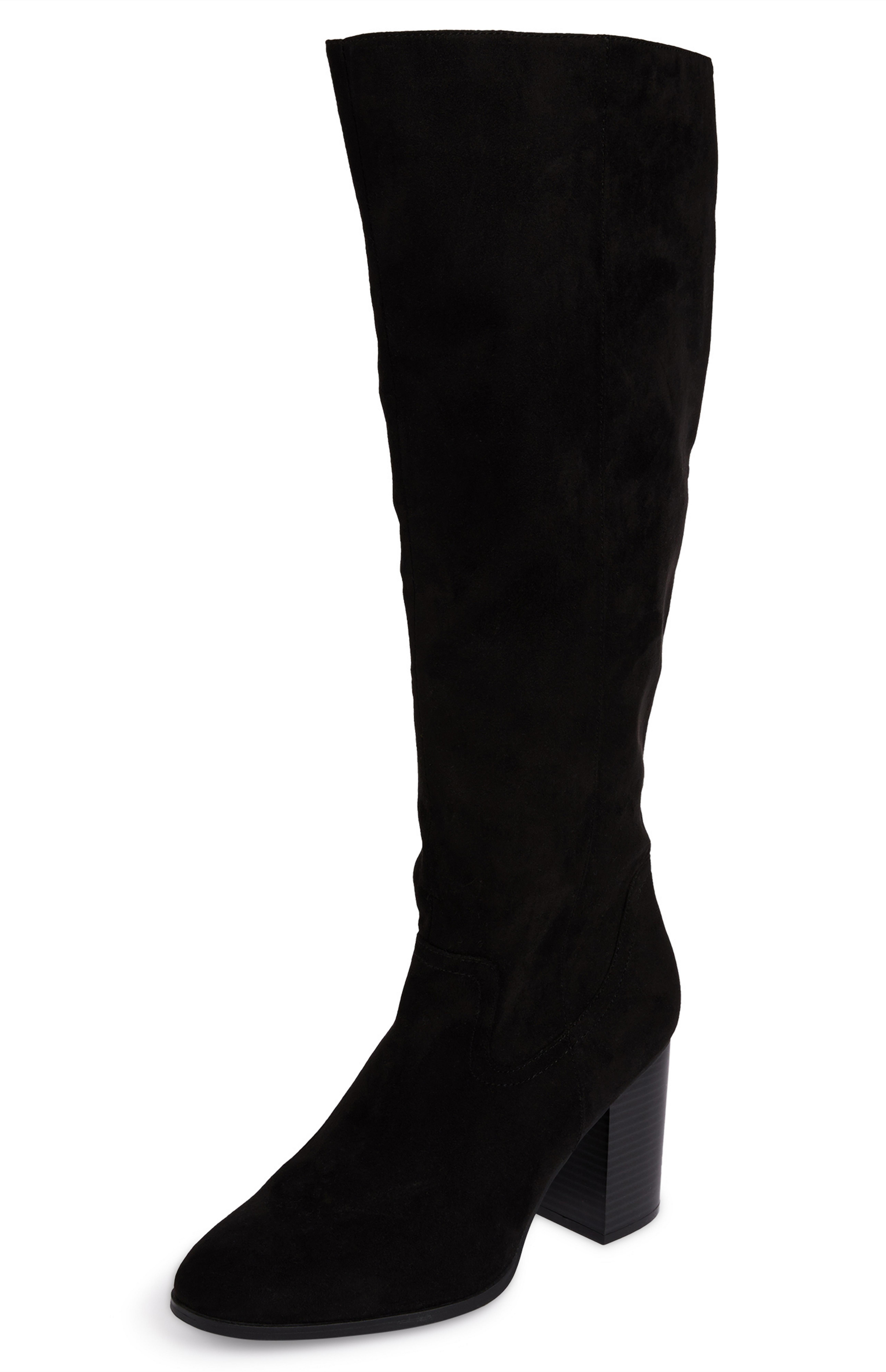 PRIMARK Ladies Older Girls FAUX SUEDE KNEE HIGH Slouch Boots UK 3 Chocolate NEW