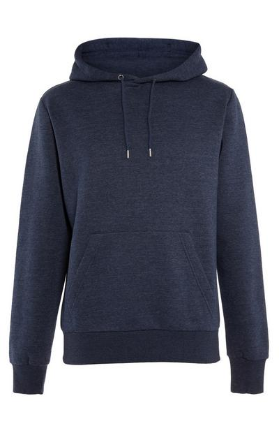 Navy Basic Pull Over Hoodie
