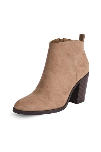 Camel Pointed Cuban Heel Boots