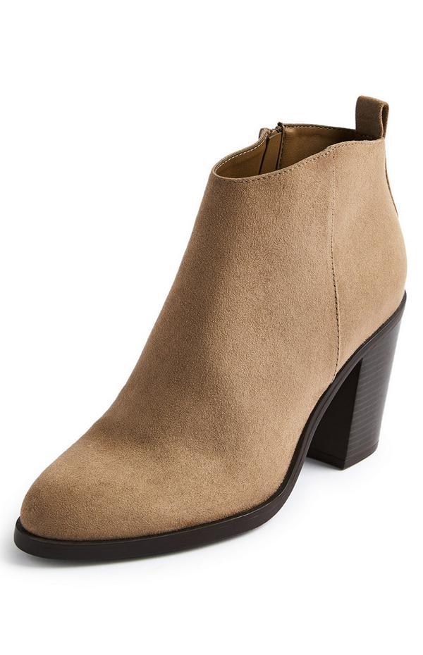 Camel Cuban Heel Boots