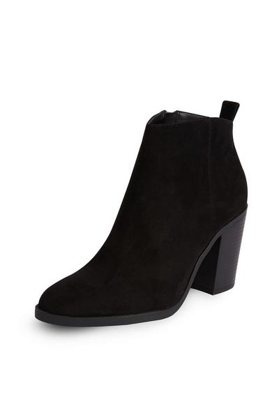 Black Pointed Cuban Heel Boots
