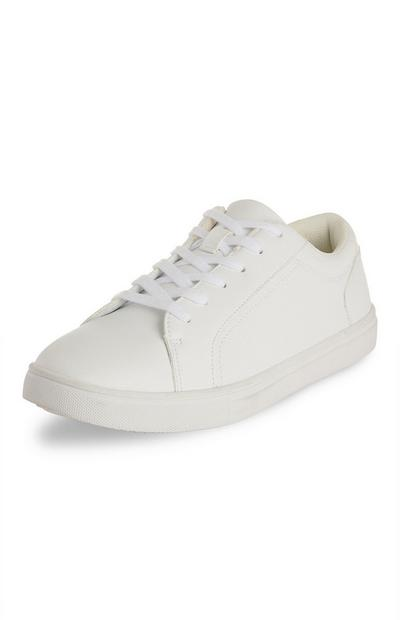 White Casual Low Top Trainers