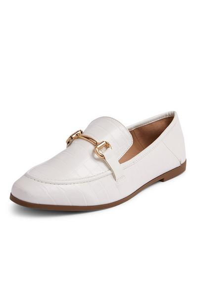 White Formal Loafers