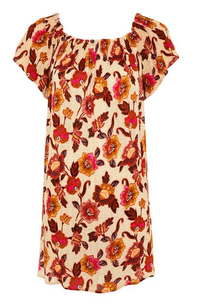 Floral Print Bardot Dress