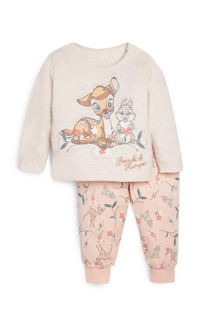 Baby Girl Bambi Pyjama Set
