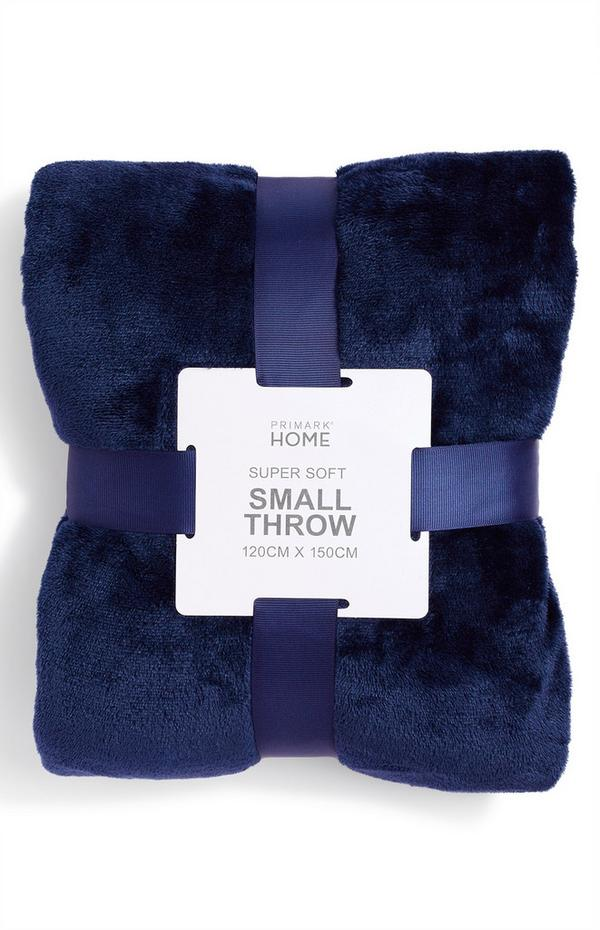 Navy Small Supersoft Throw