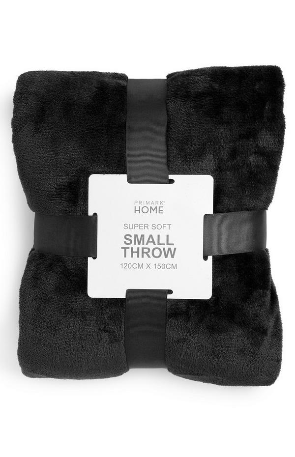 Black Small Supersoft Throw
