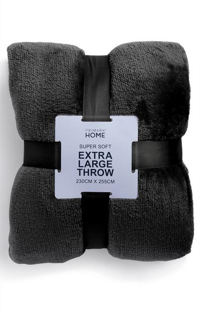 Black Extra Large Supersoft Throw