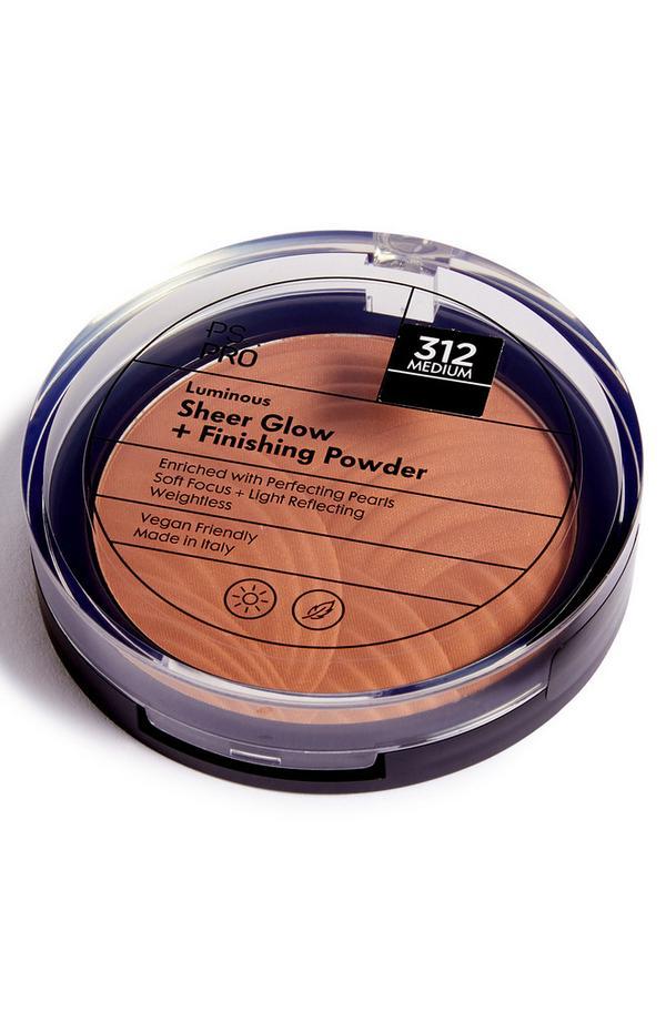 PS Pro Luminous fixerende poeder met transparante gloed 312 medium