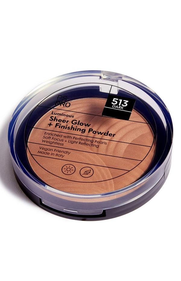 PS Pro Luminous fixerende poeder met transparante gloed 513 dark