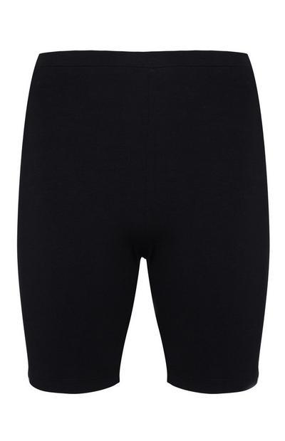 Črne kolesarske kratke hlače