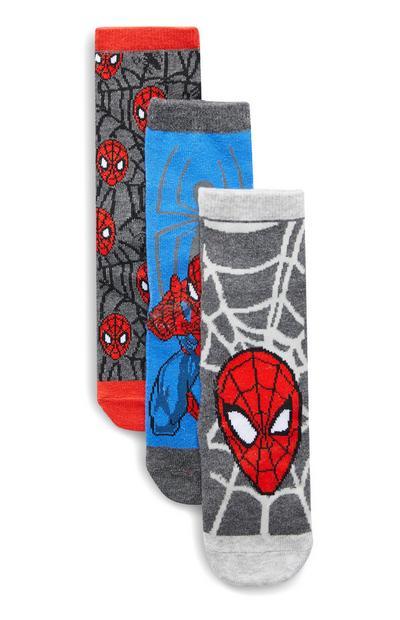 Boys Spiderman Socks 3 Pack