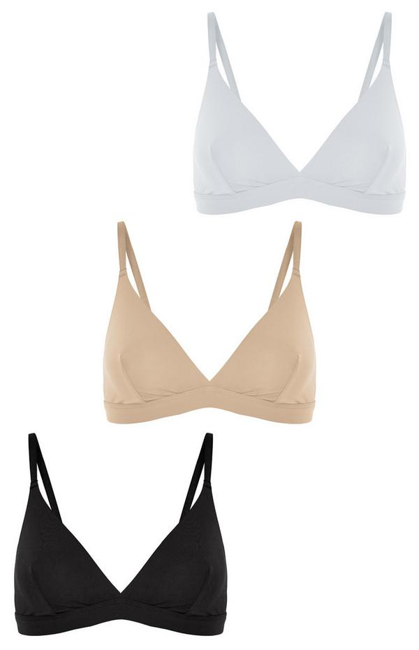 Mixed Micro Bralettes 3 Pack