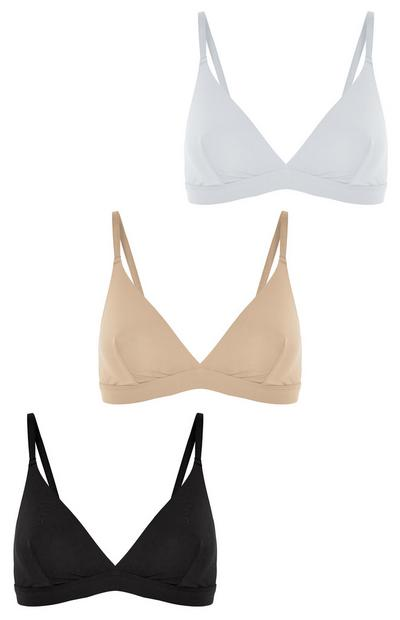 3-Pack Multi Micro Bralettes
