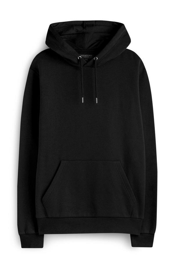 Zwarte hoodie met voorzak