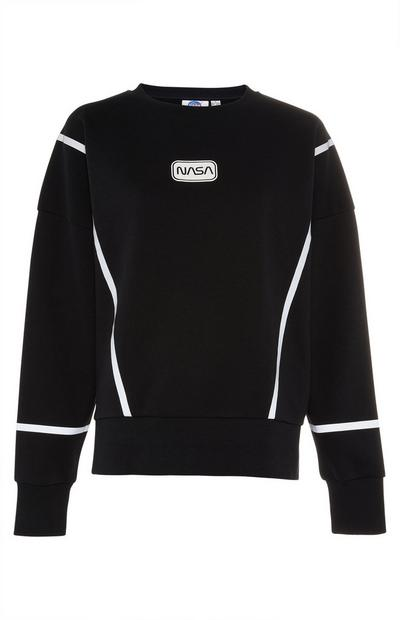 Black Nasa Logo Sweater