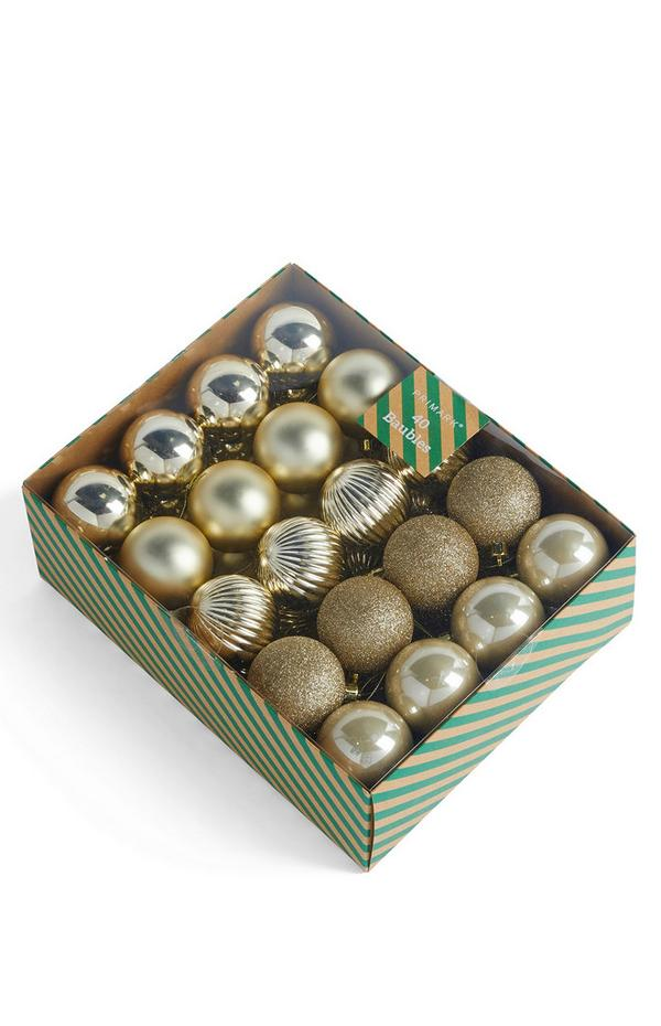 Gold Bauble Pack 40 pack