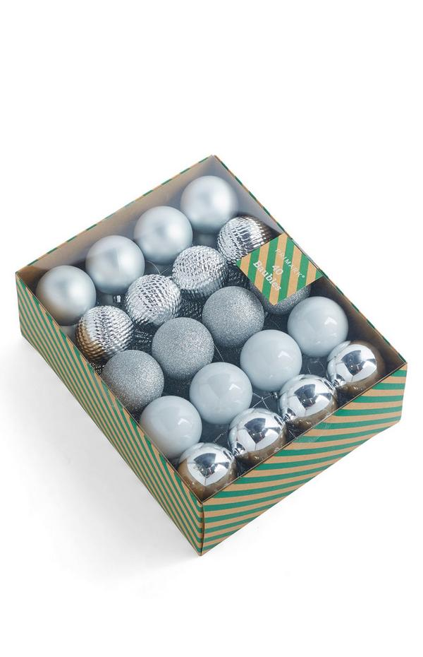 Silver Bauble Pack 40 pack