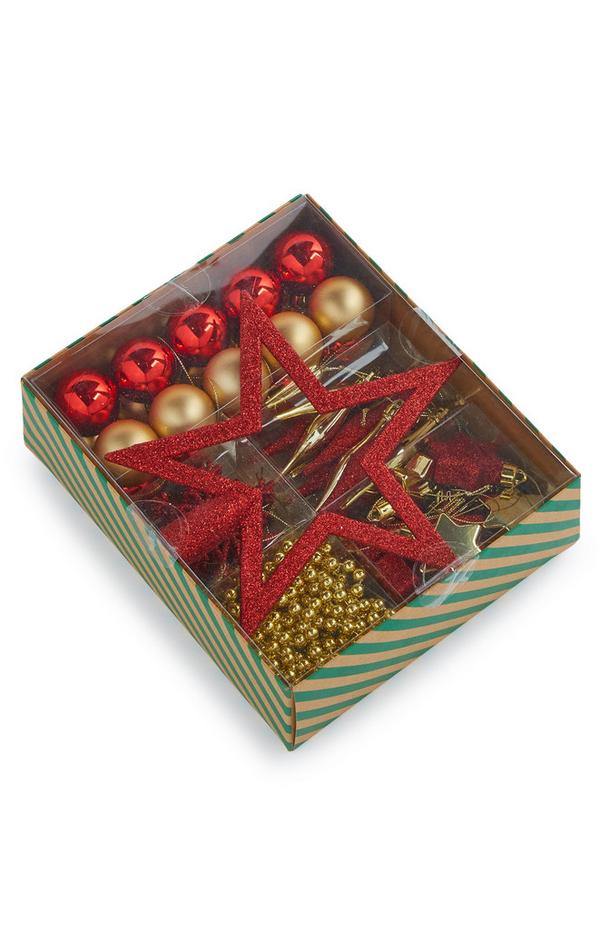 Red and Gold Starter Bauble Pack