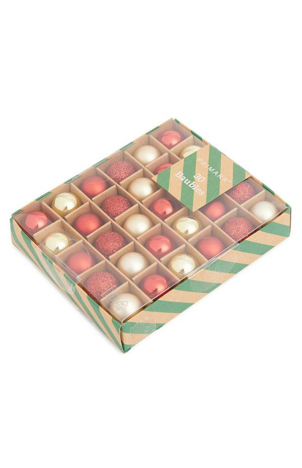 Red and Gold Bauble Pack