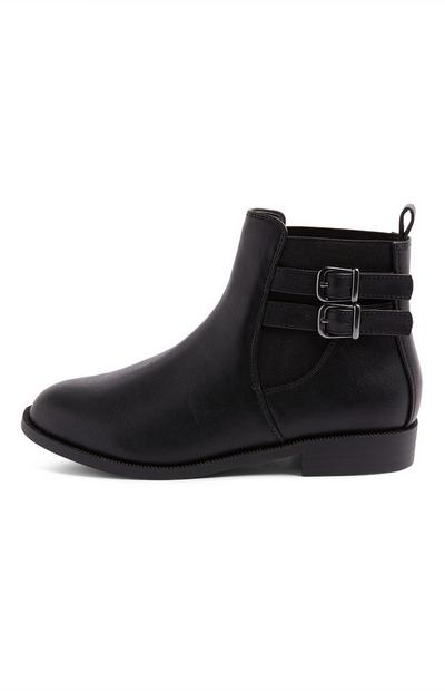 Older Girl Black Chelsea Boots