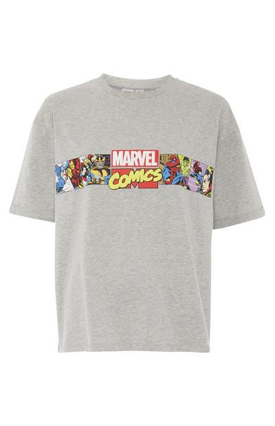 T-shirt Disney Marvel Comics cinzento