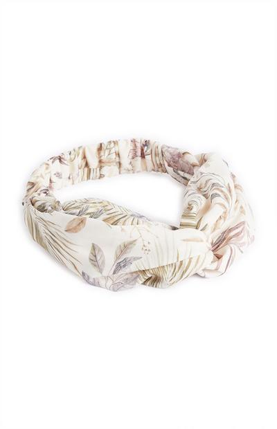 Bandeau turban à imprimé floral