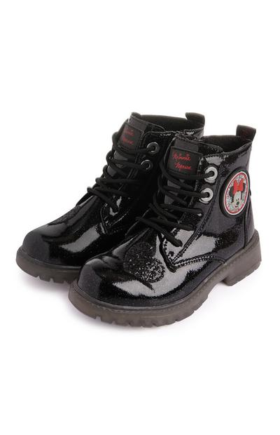 Bottines noires lumineuses Minnie Mouse fille