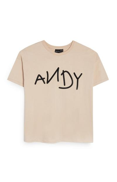 T-shirt a maniche corte con stampa Andy Toy Story